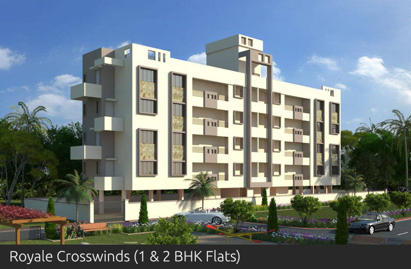 Royale Crosswinds 1 and 2 BK Flats - Shah Developers Sangli